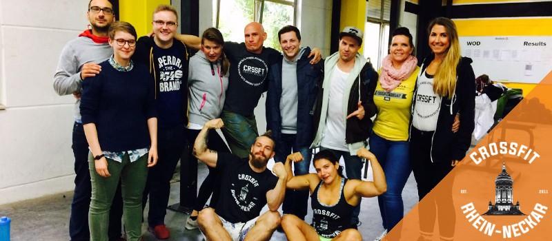 Team CrossFit Rhein-Neckar aus Mannheim nahm am zweiten Stuttgart Throwdown teil